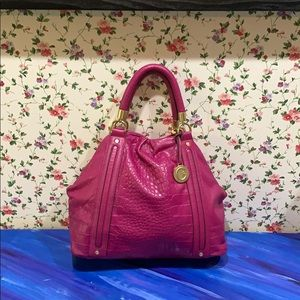 Cynthia Rowley Fuschia Leather Shoulder Bag